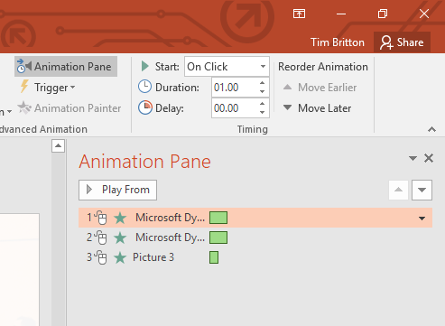 Animations Advanced Options