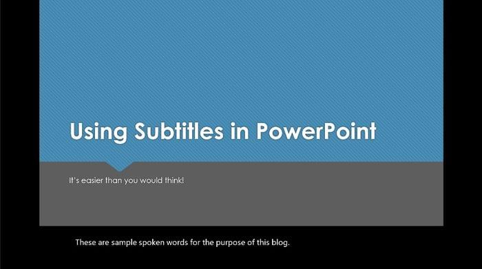 Below Slide Subtitles