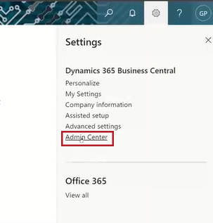 Business Central Admin Access