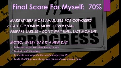 Final Score Slide