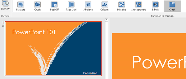 Transitions in Powerpoint