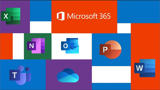 A visualization of all the Microsoft 365 product logos