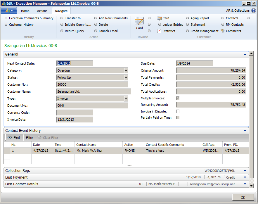 AR & Collections Manager Addon for Microsoft Dynamics NAV 3.jpg