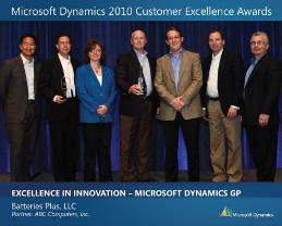Microsoft Dynamics 2010 Customer Excellence Award