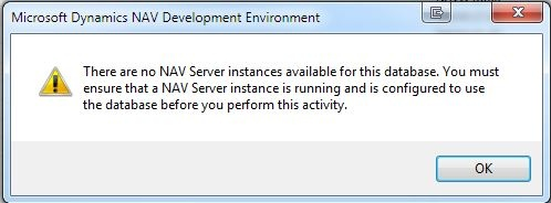 Microsoft Dynamics NAV Server Instances Error