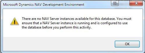 Microsoft Dynamics NAV Server Instances Error