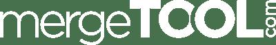 Mergetool.com Logo All White Font Transparent