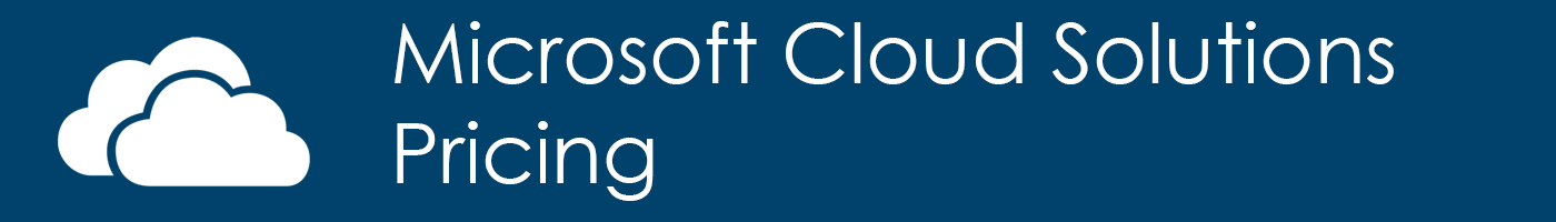 Microsoft cloud solutions Pricing