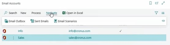 Select email scenarios