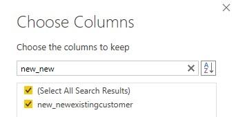 choose columns