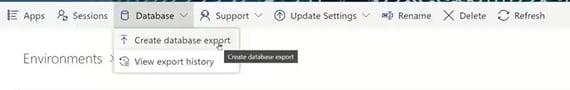 database export