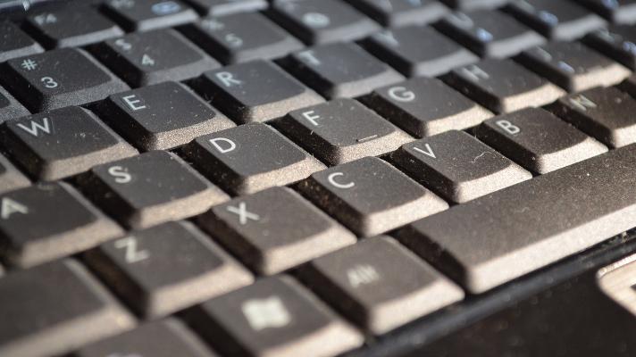 dusty computer keyboard