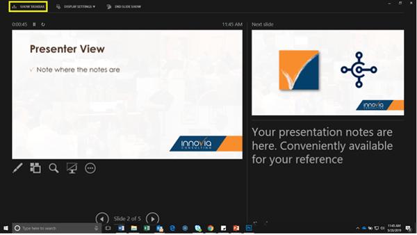 Show Taskbar Screen