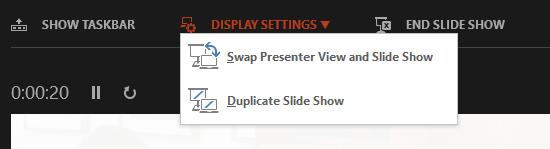 Display Settings Screen