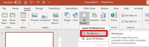 insert custom 3d model object