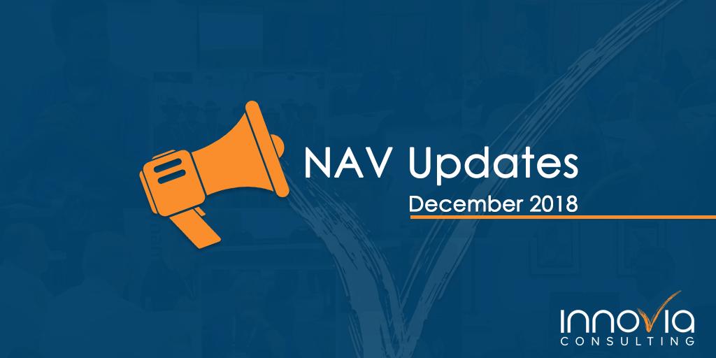 NAV Cumulative Updates for December 2018