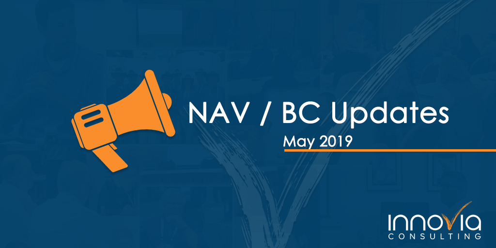 NAV / Business Central Updates for May 2019