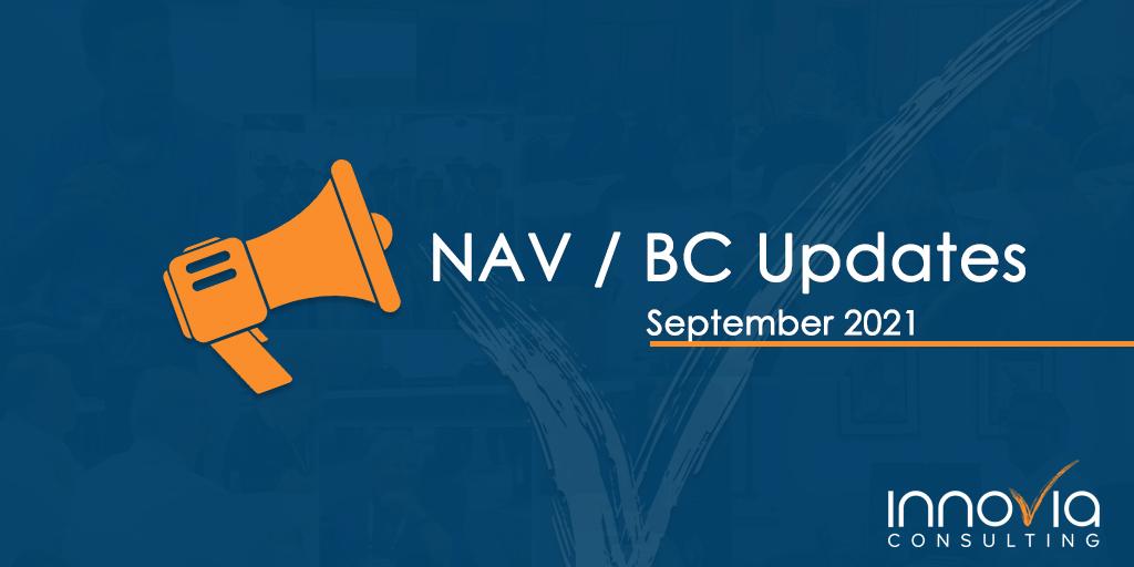 September 2021 Cumulative Updates for Business Central and Dynamics NAV