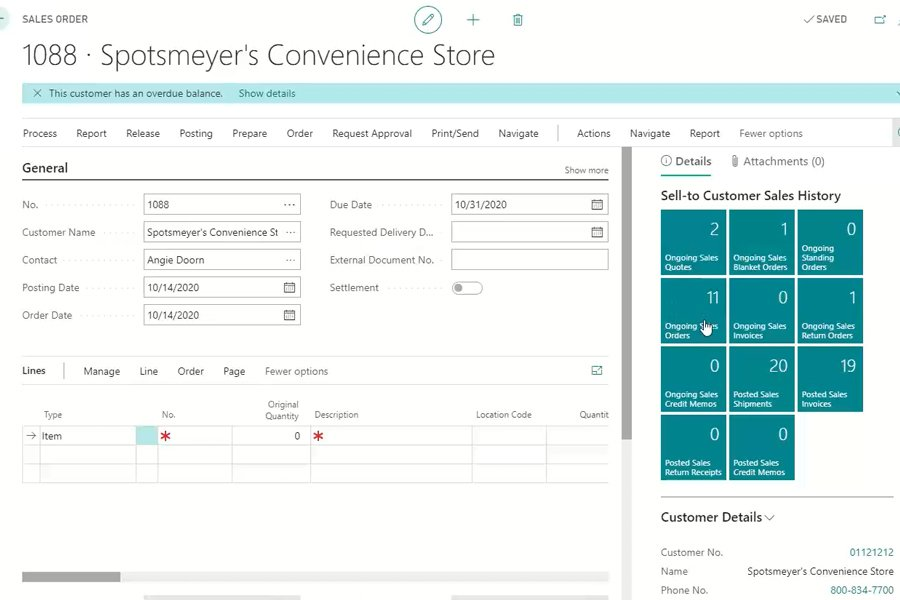 Sales Orders and Product Authorizations in Business Central