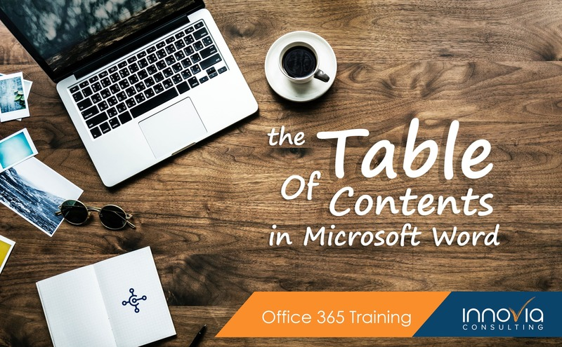Building a Table of Contents in Microsoft Word