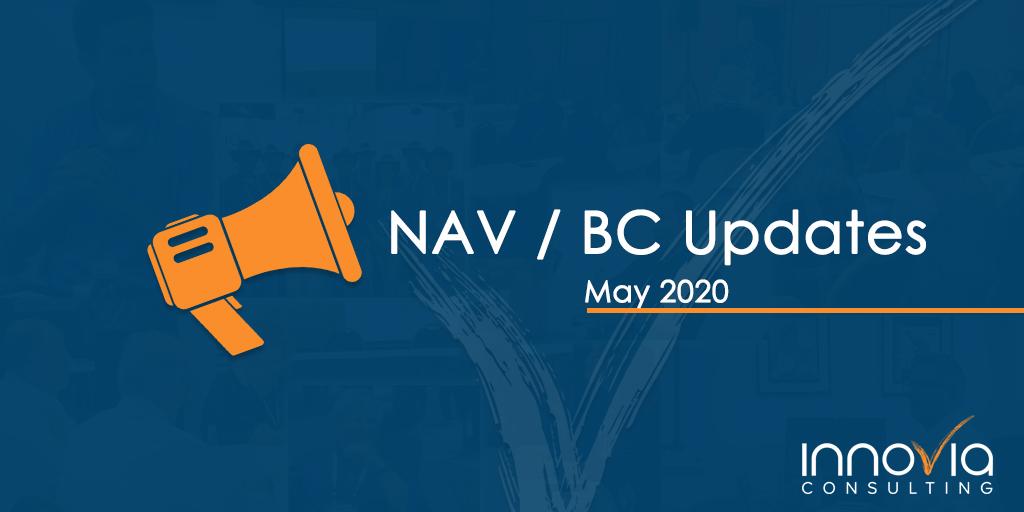 BC/NAV Cumulative Updates for May 2020