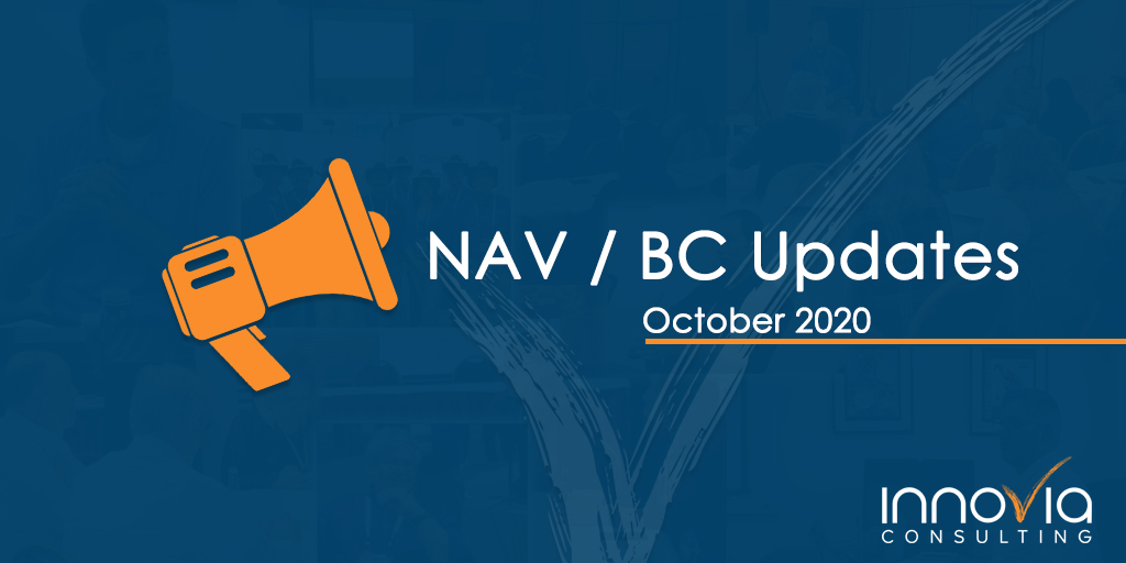 BC/NAV Cumulative Updates for October 2020
